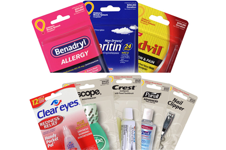 blister packed wholesale travel size products
